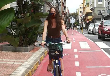 IreneCaro en Bici, Dia de la Mujer. Canarias